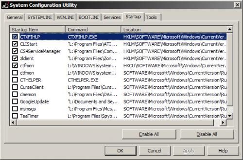 Risoluzione dei problemi per Windows XP prestazioni lente