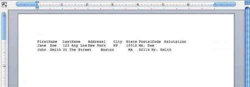 Come convertire i file di dati delimitato da Excel e Word