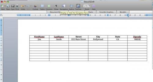Creare una lista di distribuzione in Word