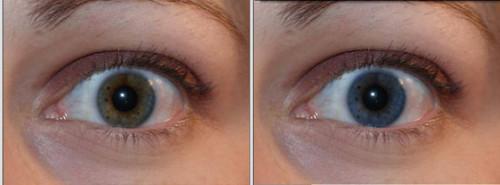 Raffreddare Effetti sugli occhi in Photoshop