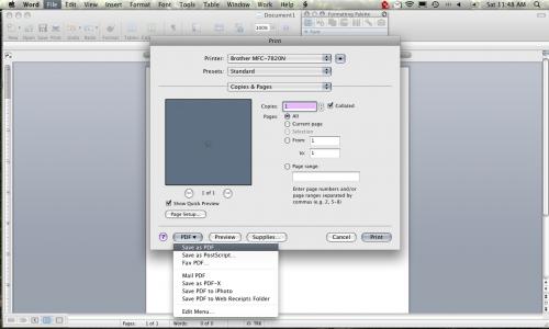 Come convertire un documento di Word in TIFF, PDF o JPEG