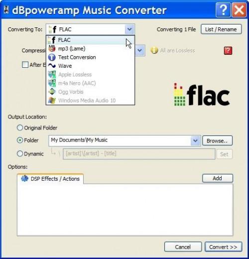 Come creare un file FLAC