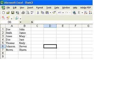 Come convertire i nomi di fare un foglio di calcolo