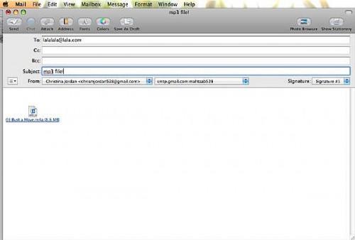 Come a e-mail un mp3