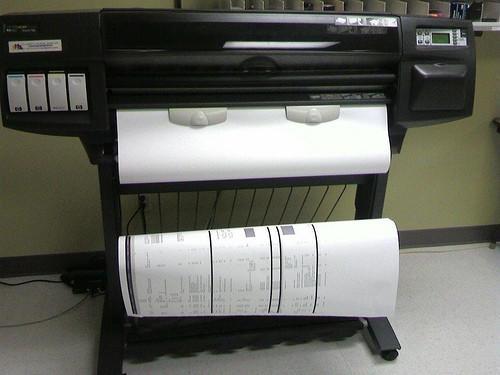 Descrizione di una stampante plotter