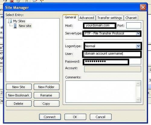 Come impostare FileZilla FTP per GoDaddy account di hosting