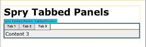 Come utilizzare i pannelli Dreamweaver CS3 Spry a schede