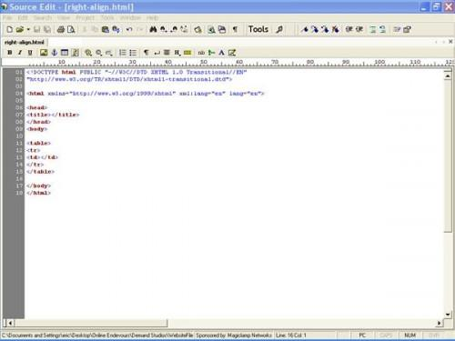 Come allineare le tabelle HTML alla destra del testo
