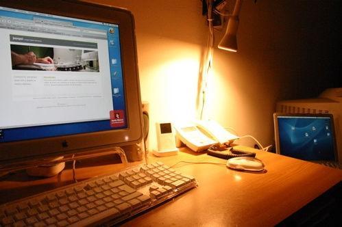 Lo sfondo del desktop e sgranato