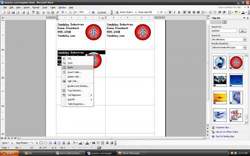 Come fare biglietti da visita con Microsoft Word