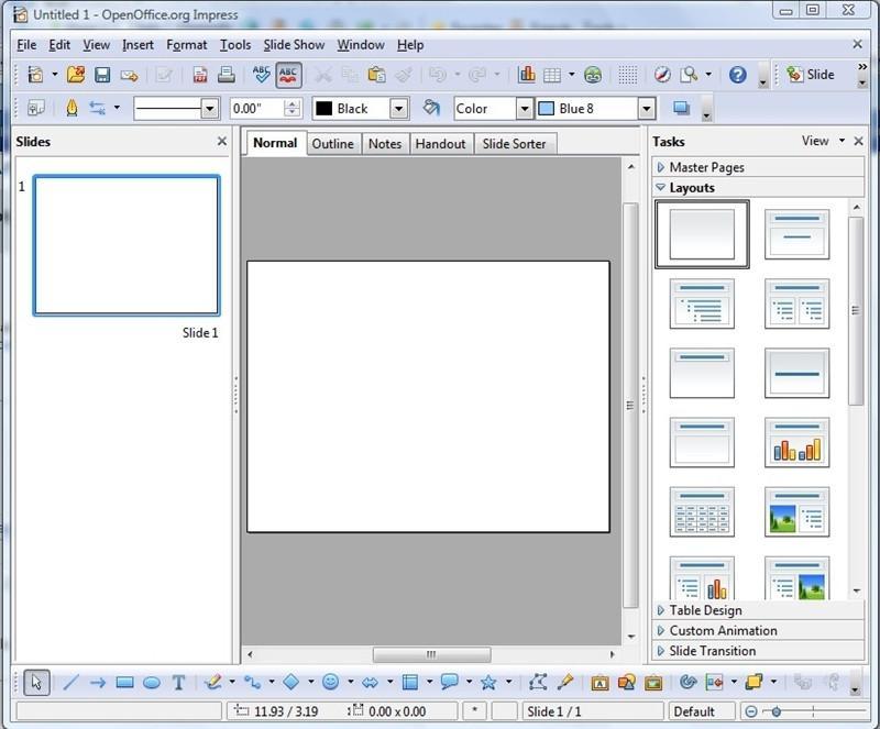 Impostare sfondo diapositiva openoffice