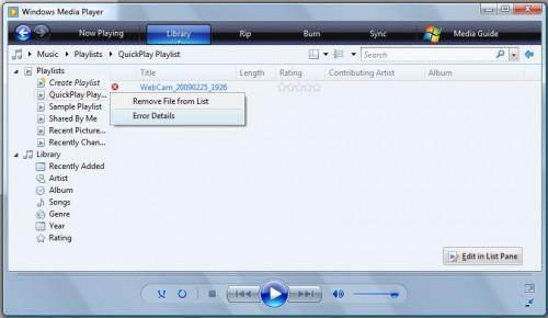 Risoluzione dei problemi di Windows Vista Media Player
