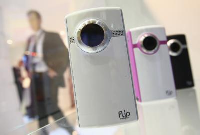 Espulsione di una fotocamera flip da un iMac