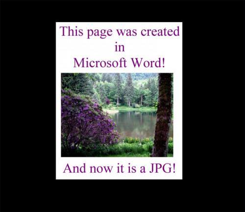 Come convertire un documento di Word a una immagine JPEG