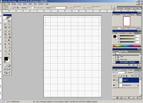 Come fare un CV in Adobe Photoshop