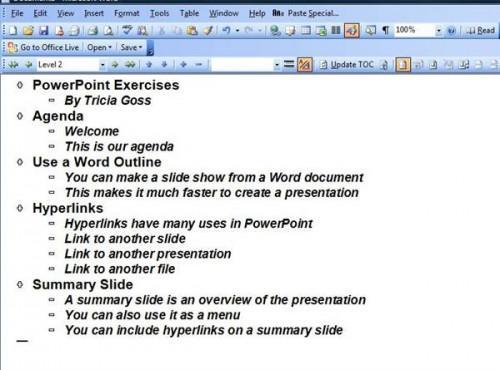 Esercizi Microsoft Power Point
