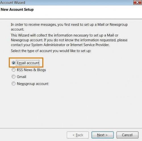 Come configurare Thunderbird in Windows Vista