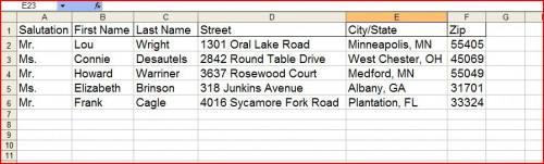 Come fare Etichette per indirizzo con Excel