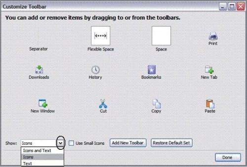 Come modificare le impostazioni della barra strumenti