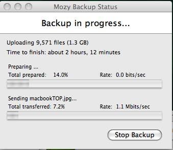 Come usare Mozy