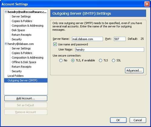 Come inoltrare una connessione da un server SMTP per un proxy