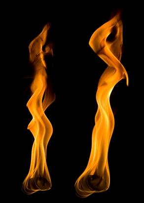 Come dipingere effetti di fuoco