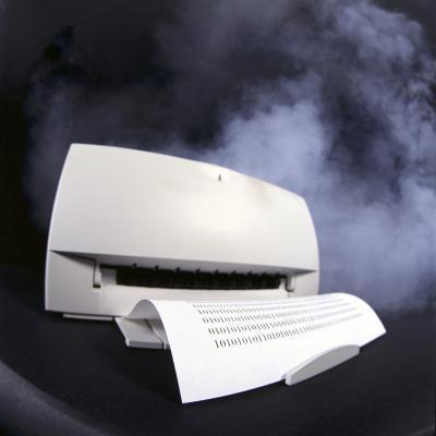 Come prova di un'immagine per una stampante