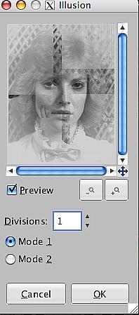 Come usare l'effetto Illusion in GIMP