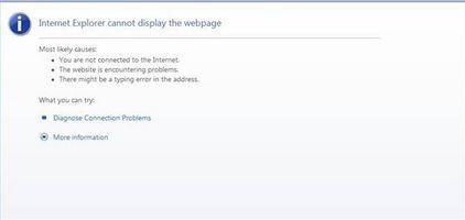 Come risolvere Internet Explorer Quando non è possibile aprire una pagina web