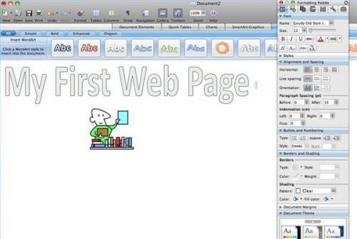 Come creare una pagina Web in Word