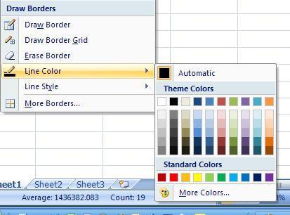Come aggiungere bordi alle celle in Microsoft Excel 2007