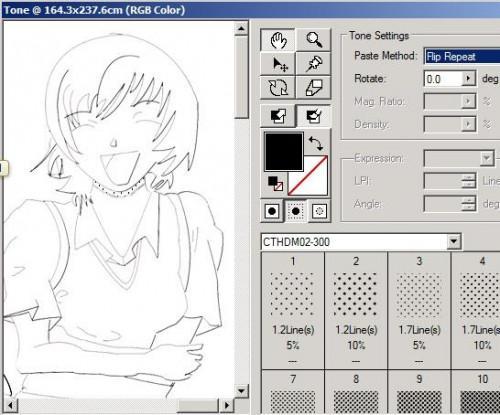 Come usare i toni dello schermo a personaggi Ombra
