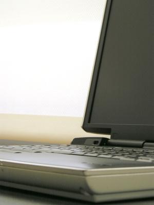 Parti di un schermo del computer portatile
