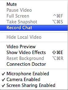 Come registrare una chat audio con iChat