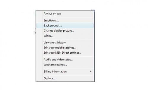 Come mettere uno sfondo in un Windows Live Messenger