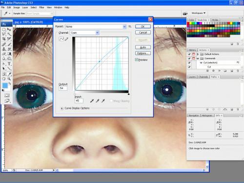 Photoshop Suggerimenti per Cambiare colore degli occhi
