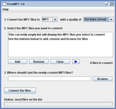 Come convertire MPC in MP3