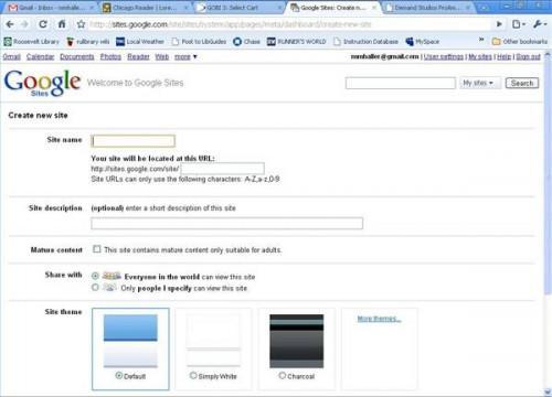 Come creare una pagina Web libero a Google