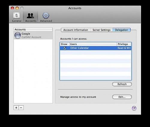 Come sincronizzare Google Calendar con iCal Utilizzando CalDAV