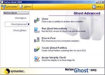 Come fare una immagine del disco con Norton Ghost