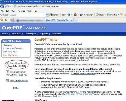 Come salvare nulla in formato PDF