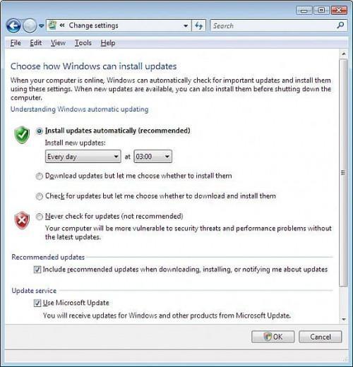 Come trasformare Aggiornamenti automatici di Windows Vista e spegnimento
