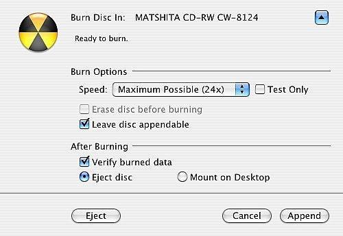 Come masterizzare un CD Più volta su un Mac