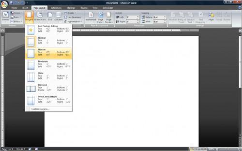 Come fare una brochure pieghevole a tre in Microsoft Word 2007