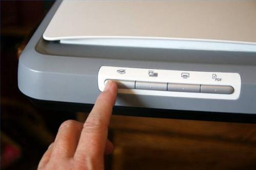 Come scansione di foto in un computer