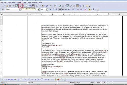 Come salvare un documento come file PDF gratis
