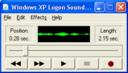 Cambiare il XP di accesso Windows Sound