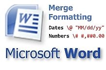 Come formattare date e numeri in una stampa unione di MS Word Mail