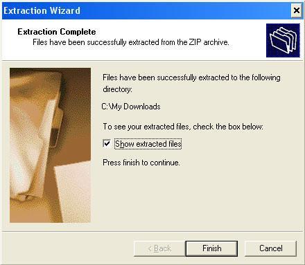 Come per accedere ai file zip cartella