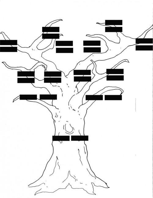 Come disegnare Family Tree Utilizzando rami d'albero in Photoshop